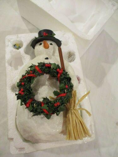 """HALLMARK Snowman With Birds WINTER FRIENDS MARJOLEIN BASTIN 9"""" 2005 Excellent!"""