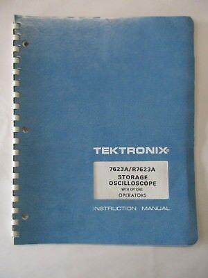 Tektronix 7623ar7623a Storage Oscilloscope W Opt Operators Manual 070-1684-00