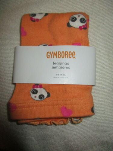 Gymboree Orange Panda Academy Leggings Size 3-6 Month NWT