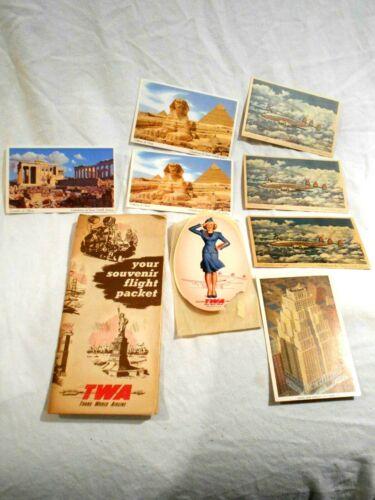 Vintage TWA (Trans World Airlines) Your Souvenir Flight Packet