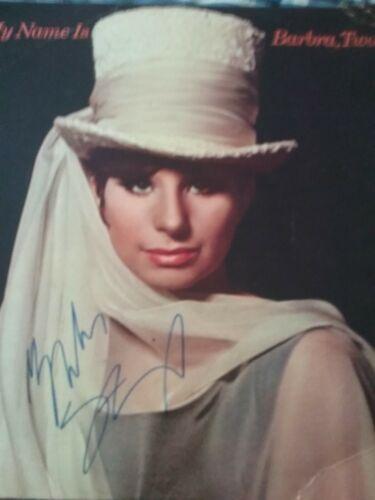 Barbra Streisand signed autographed album My Name is Barbara Two Never used perf
