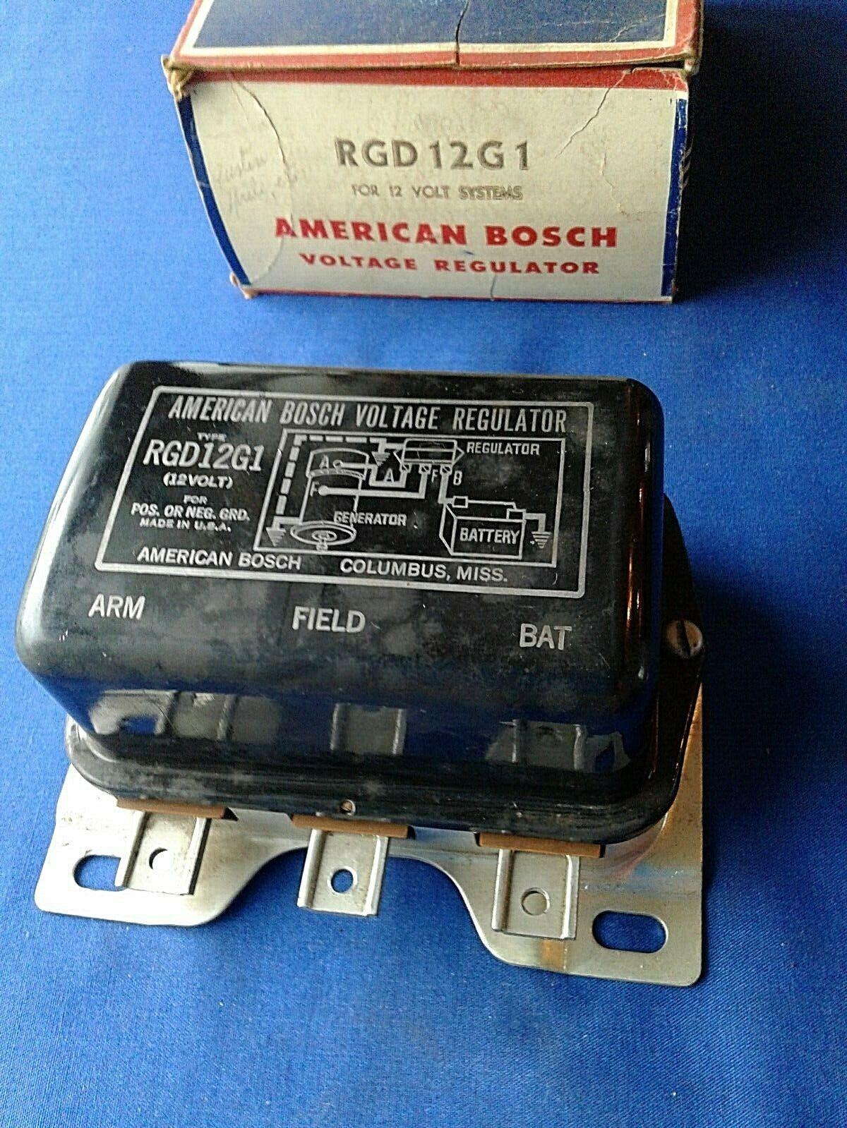 Bosch 12V Voltage Regulator # RGD 12G1 English Ford Austin MG Morris more Import