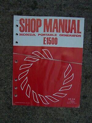 1977 Honda E1500 Portable Generator Shop Manual E1500 Supplement U