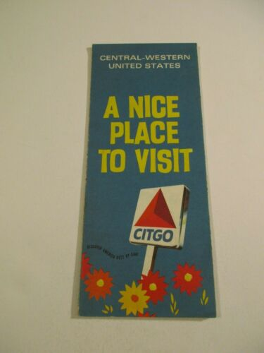Vintage 1970 Citgo Central Western United States Gas Station Travel Road Map-B3