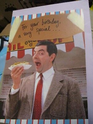 MR BEAN BIRTHDAY GREETINGS CARD HOT DOG BRAND NEW VERY RARE