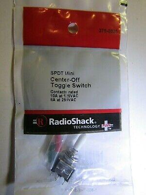 Radio Shack 275-0325 Spdt Center Off Mini Toggle Switch Niop