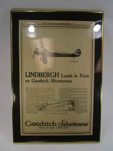 Vintage Lindbergh Goodrich Silvertowns saint louis newspaper ad May 23 1927 tire