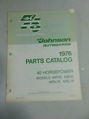 40E76 40R76 1976 JOHNSON OUTBOARD 40HP SERVICE MANUAL 40RL76 40EL76