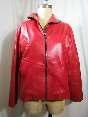 BABETTE San Francisco Zip Through Leather Jacket Size XSmall
