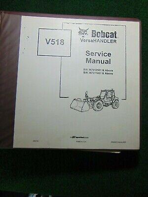 Bobcat V518 Versahandler Service Repair Shop Manual Sn 367012501 367311001