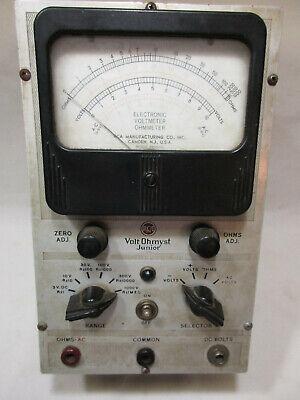1940 Vintage Rca Voltohmyst Junior Model 165 Tube Voltmeter