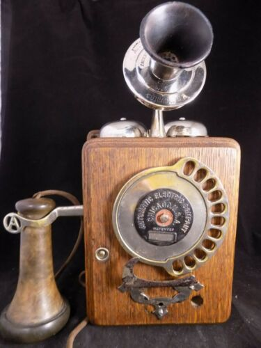 Antique Telephone 1907 11 Digit Stowger Dial Automatic Electric Company Chicago