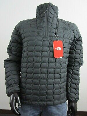 Mens TNF The North Face Thermoball Insulated Zip Pullover Puffer Jacket Asphalt