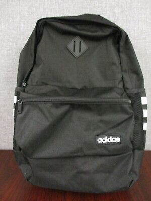 NWOT Adidas Core Classic Backpack Black with classic 3 Stripe Tech Friendly