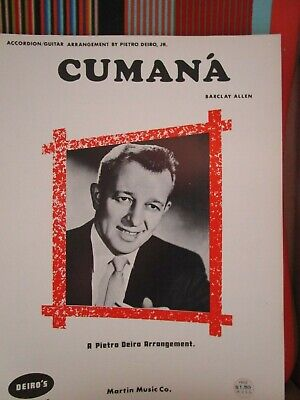 Used, CUMANA BY PIETRO DEIRO JR- ACCORDION SOLO SHEET MUSIC NOS for sale  Shipping to Canada