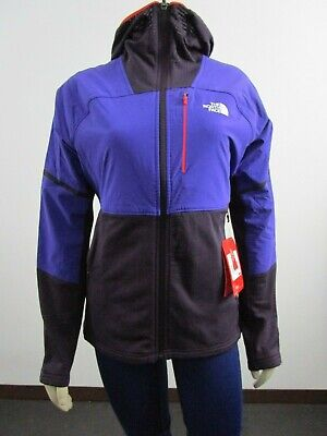 Womens The North Face Progressor Power Grid Polartec Fleece Hooded Jacket Purple