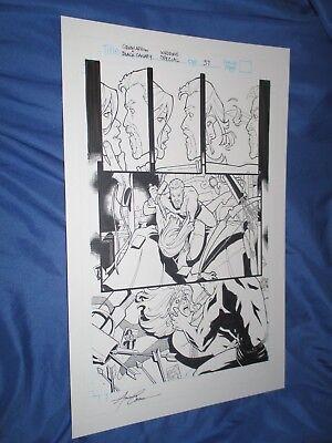 GREEN ARROW/BLACK CANARY #1 Original Art Page #37 by Amanda Conner ~Wedding
