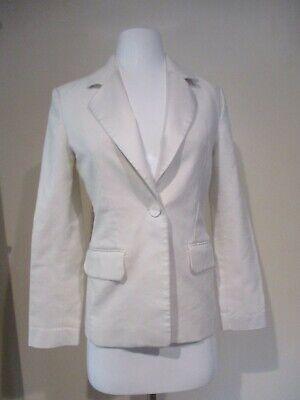 HELMUT LANG white blazer jacket sz sz 2