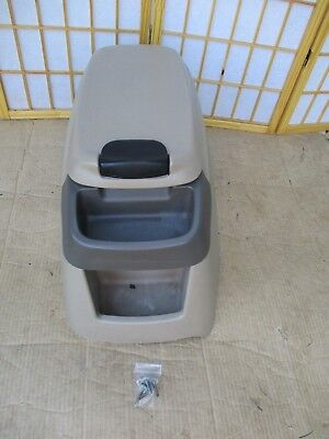 99-07 Ford F250 F350 Pickup Center Floor Drink Cup Holder Storage Console CAMEL