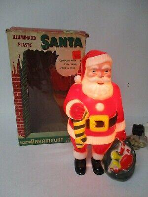 Vintage Paramount Christmas Light in Original Box - Full Body Standing Santa