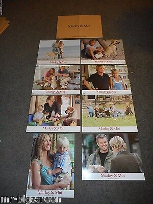 MARLEY AND ME - ORIGINAL SET OF 8 FRENCH LOBBY CARDS - 2008 - JENNIFER ANISTON
