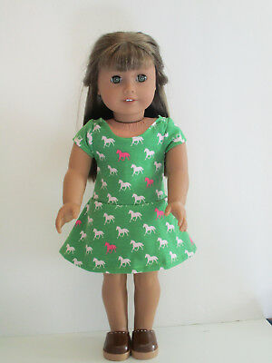Green Dresses For Little Girls (Little Horses/Green Knit Dress for 18