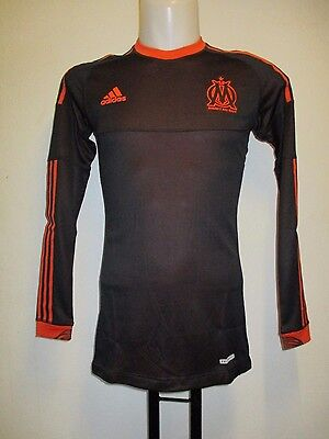 OLYMPIC MARSEILLE L/S PLAYER ISSUE 2012/13  TECHFIT 3RD SHIRT BY ADIDAS MEDIUM