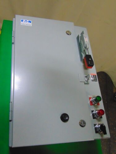 Cutler Hammer Eaton Combination Motor Starter Electrical Enclosure