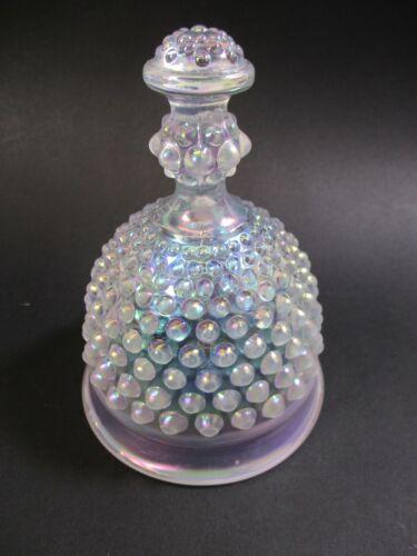"Vintage Iridescent Imperial ""IG"" Carnival Glass Hobnail Bell 5"""