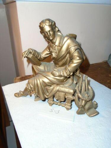 Antique-Clock Statue-Topper-Ca.1890-#S3
