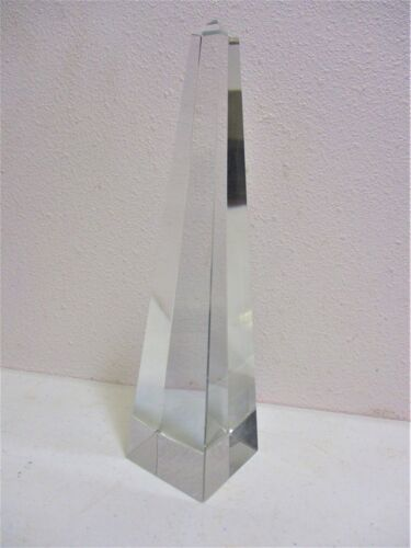 "Tiffany And Company Obelisk 10 1/8"" Crystal Optic Crystal Glass Retail $800.00"