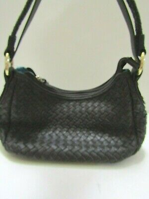 DIANE GAIL Woven leather handbag