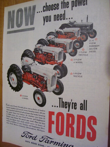 VINTAGE FORD TRACTOR ADVERTISING -5  FORD TRACTORS