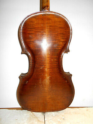 Antique Vintage Old Late 1800/Early 1900s Steiner 2 Pc Back Full Size Violin  - $284.00