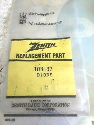 Zenith 103-87 Germanium Diode Repl Ecg109 Nte109
