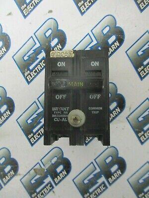 Bryant Br2100bm 100 Amp 240 Volt 2 Pole Main Circuit Breaker- Warranty