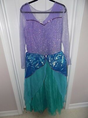 Disney Store Little Mermaid Ariel Adult Costume Size XL X-Large Womens 12-14 - Adult Costume Stores