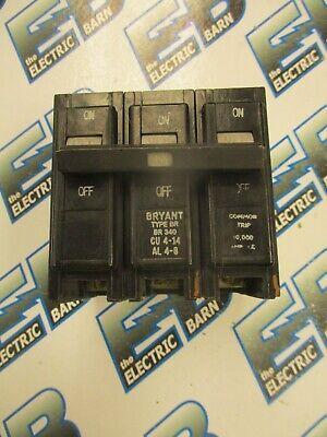 Bryant Br340 40 Amp 3 Pole 240 Volt Circuit Breaker- Warranty