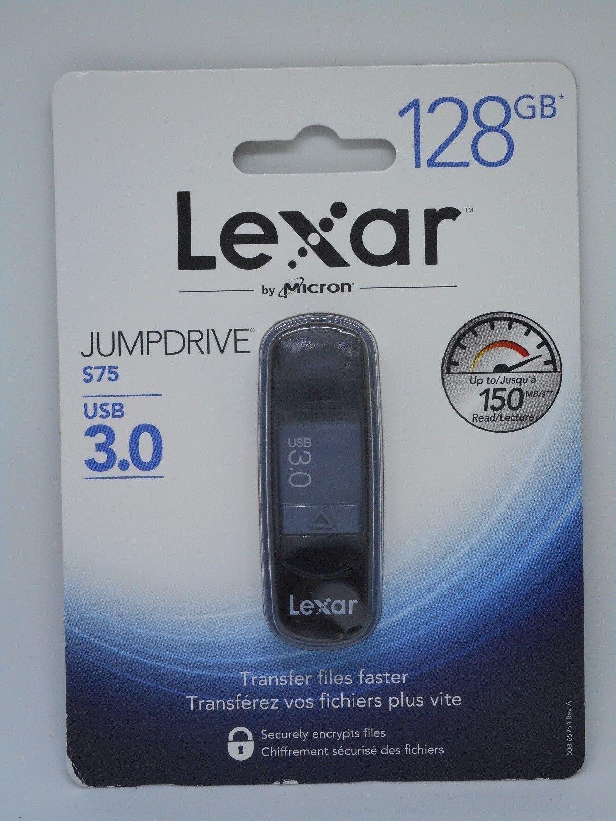 LEXAR JumpDrive S75 128GB USB 3.0 Flash Drive