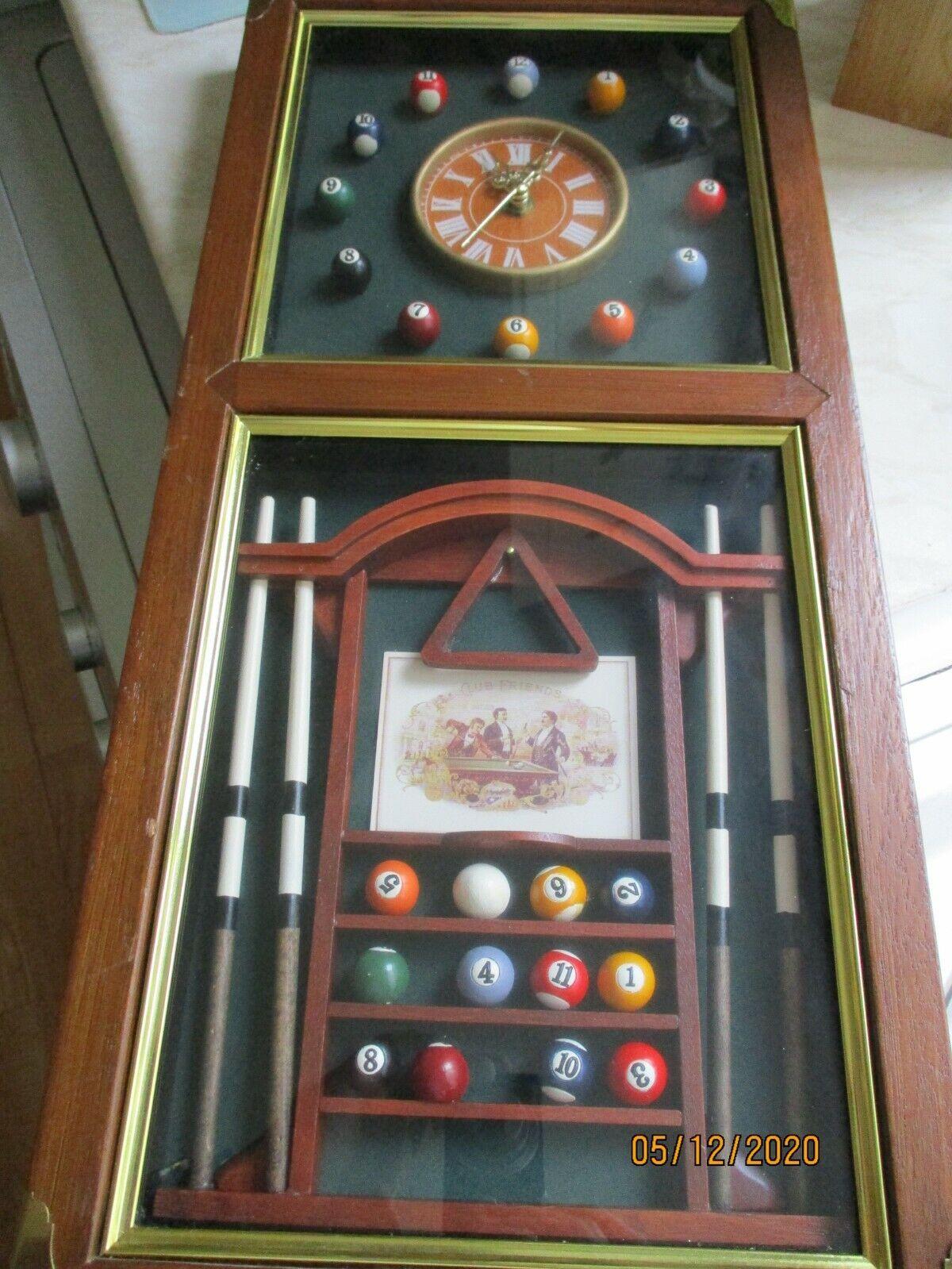 billiards wall clock (working)