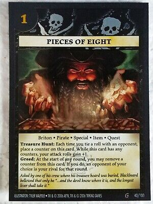 Pieces of Eight, Anachronism Card Game, foil, excellent