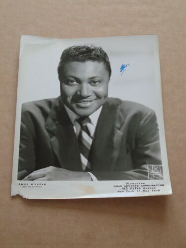 Amos Milburn 10 x 8 US 1956 Agency Publicity Photo (Hand Signed)