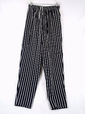 White Swan Five Star Unisex Baggy Chef Pants Chalkstripe Large 18100 222d