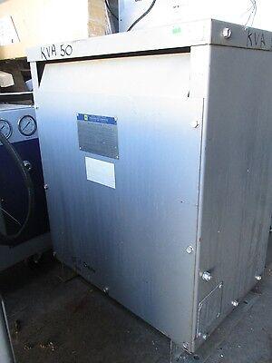Square D 50 Kva 3 Phase 400 Hz 120208x115 Volt Transformer- T1300