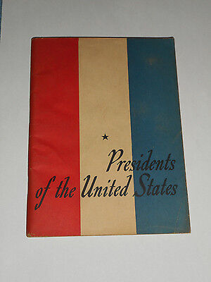 1948 Presidents Of The United States John Hancock Mutual Life Insurance Booklet