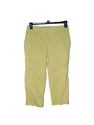 Talbots Petites Yellow Capri Pants 4P Women