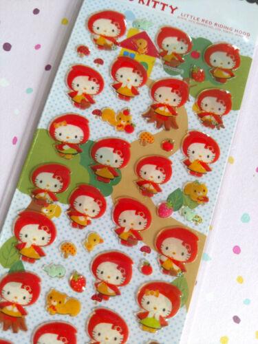 Sanrio Hello Kitty Seal Stickers Sticker Sheet Little Red Riding Hood Japan 2010