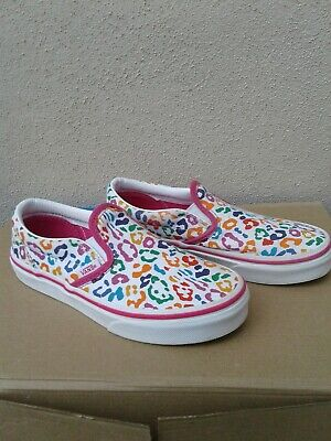 VANS MULTI CLASSIC SLIP ON TRAINERS JUNIOR KIDS UK SIZE 1 BOXED