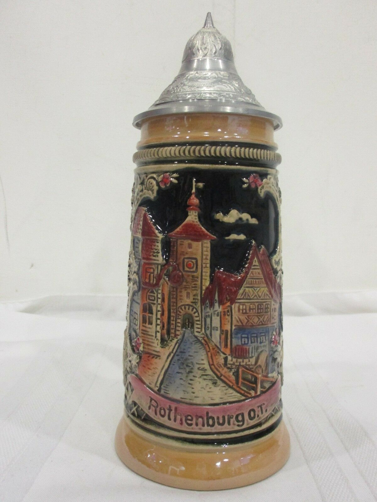 ZINN RB ROTHENBURG O.T.  BEER STEIN Made in W.GERMANY