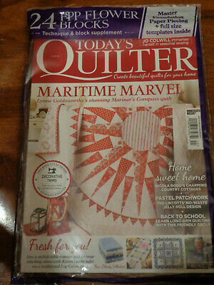 TODAY'S QUILTER ISSUE 44 2019 MAGAZINE NEW/SEALED   24 FREE FPP FLOWER (Today's Take)